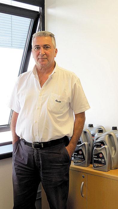 Daniel Nader, gerente Comercial, está a cargo del lanzamiento del Nuevo portfolio de productos de Gulf.