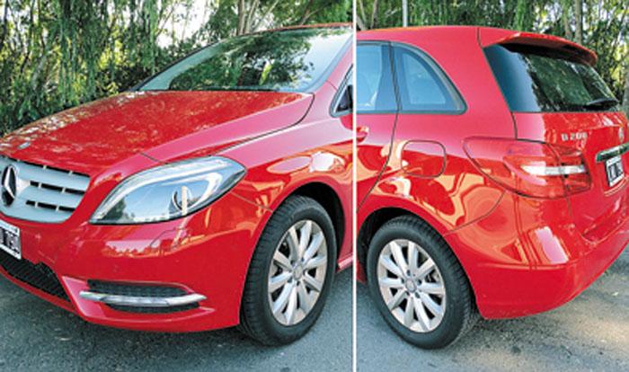 La versión B 200 City viene con llantas de 16 pulgadas. La variante Sport trae de 17″. Las luces de leds y los Xenón son de serie. No tiene antinieblas.