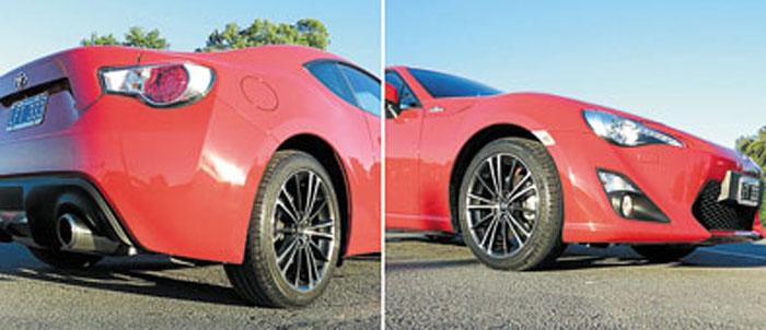 La versión GT viene con llantas de 17 pulgadas y frenos a disco ventilados en las cuatro ruedas. La FT calza 16″ y tiene discos macizos atrás.