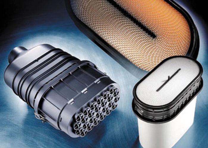 El filtro bobinado Symmetrix consta de un gran número de canales de filtración, cuyos cierres están dispuestos de forma alterna.