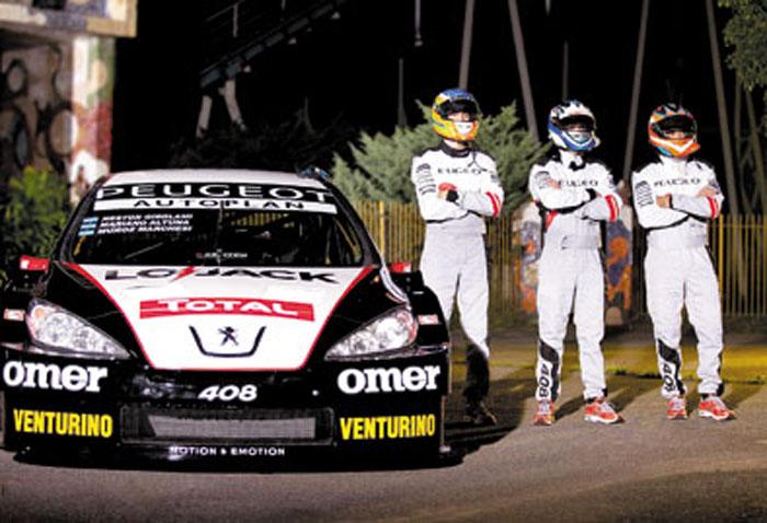 Girolami, Muñoz Marchesi y Altuna integran el trío de pilotos Peugeot.