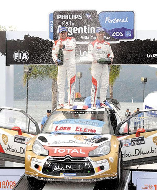 Loeb correrá sólo cuatro rallys este año y el de Argentina fue uno de ellos. Se llevó el triunfo.