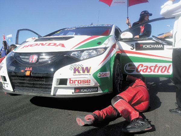 Castrol es sponsor oficial del equipo de Honda de WTCC.