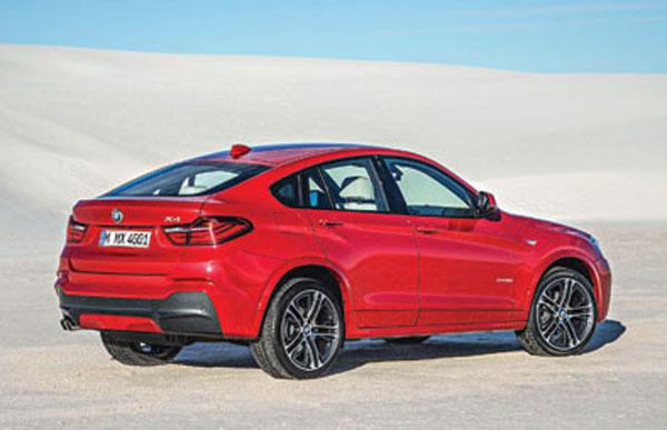La BMW X4 está basada en la plataforma de la X3, pero con una estética más deportiva.