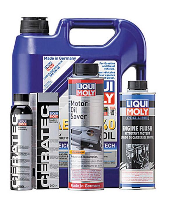 La gama completa de aditivos para lubricantes de Liqui Moly.