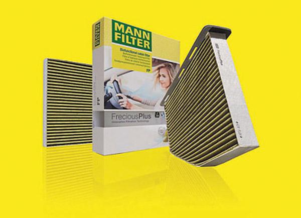 La última generación de filtros de habitáculo de Mann-Filter evitan casi en un 100% la propagación de bacterias y moho en el interior del habitáculo.