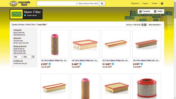 El principal sitio de compras y ventas online de la Argentina selló una alianza con Mann-Filter.