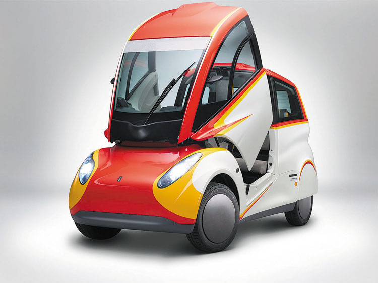 Se trata de un prototipo de auto urbano de tres plazas, creado para reducir el uso de energía en el transporte público. Cuenta con la última generación de lubricantes Shell Helix Ultra.