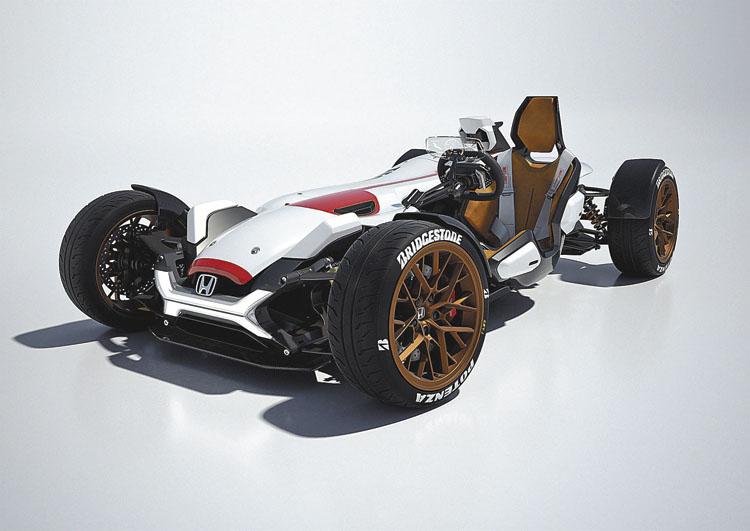 Es un auto ligero y compacto, con el motor de la moto RC213V.