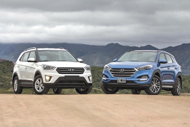 Creta y Tucson, las nuevas SUV de Hyundai para los segmentos chico y compacto.