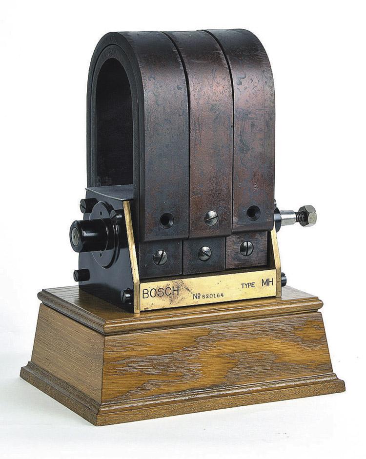 En sus inicios, Bosch fabricaba magnetos de encendido de baja tensión para máquinas estacionarias.